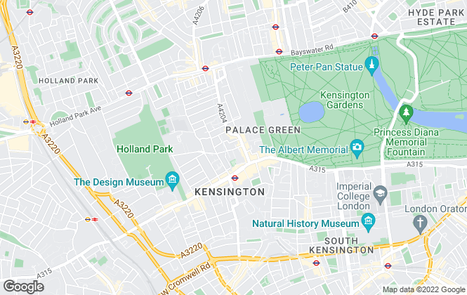Map for Wilfords London, Kensington