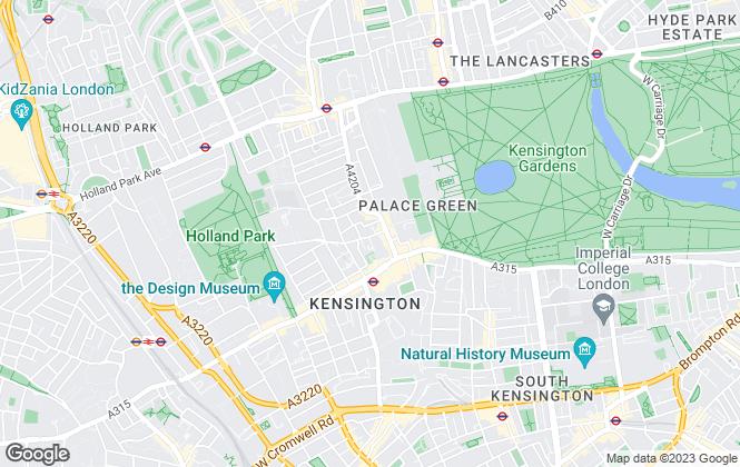 Map for Wilfords London, Kensington