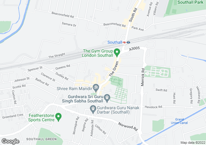 Map for The Green, SOUTHALL