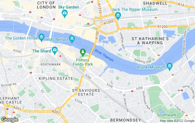Map for Anderson Rose, Tower Bridge