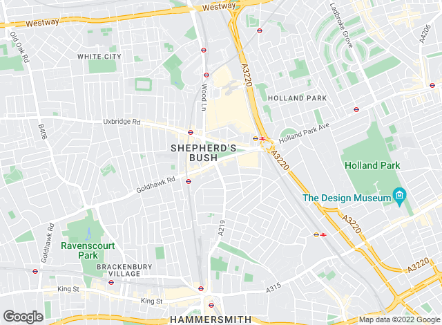Map for Dexters, Shepherds Bush & Hammersmith