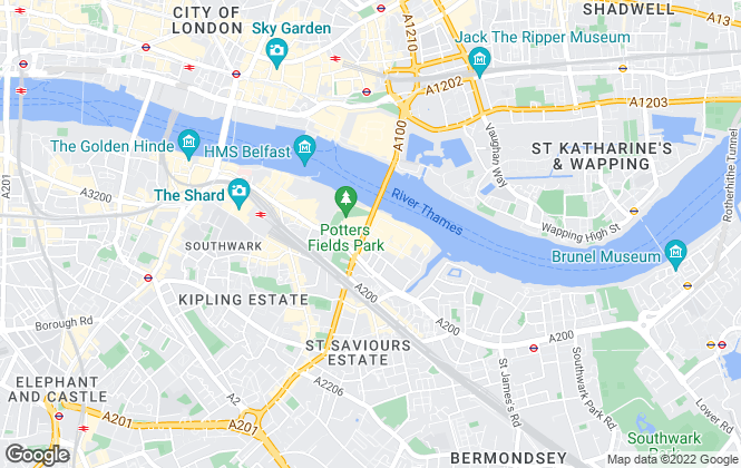 Map for Cluttons LLP, Tower Bridge, New Homes - sales