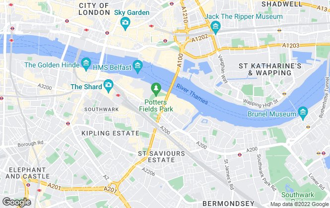 Map for Chestertons Sales, Tower Bridge