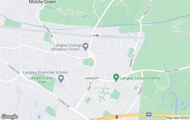 Map for B Simmons & Son, Langley