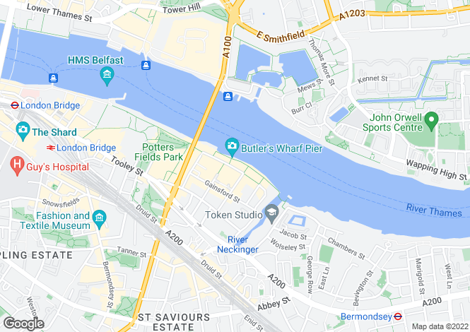 Map for Butlers Wharf Building, 36 Shad Thames, London, SE1