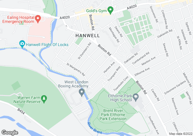 Map for Studley Grange Road, Hanwell, London
