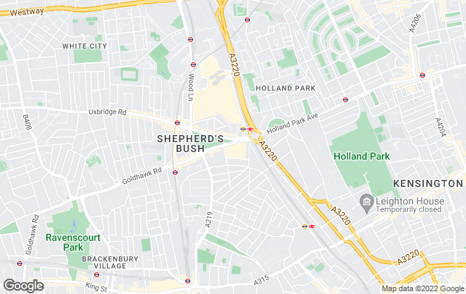 Map for Foxtons, Shepherds Bush