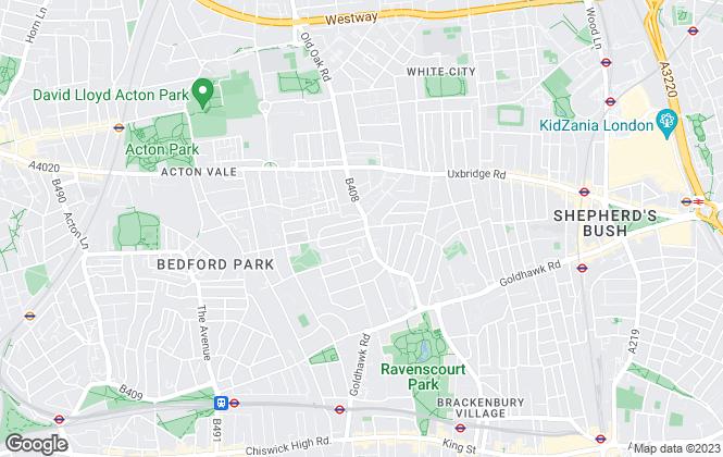 Map for Haus Properties, Shepherd's Bush