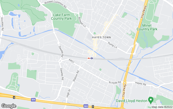 Map for be:here, Hayes