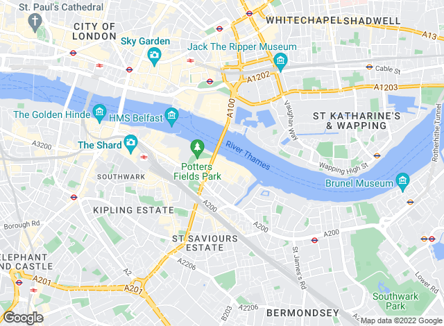 Map for Hamptons International Lettings, Tower Bridge - Lettings