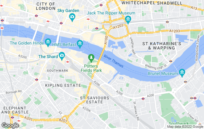 Map for Hamptons International Sales, Tower Bridge