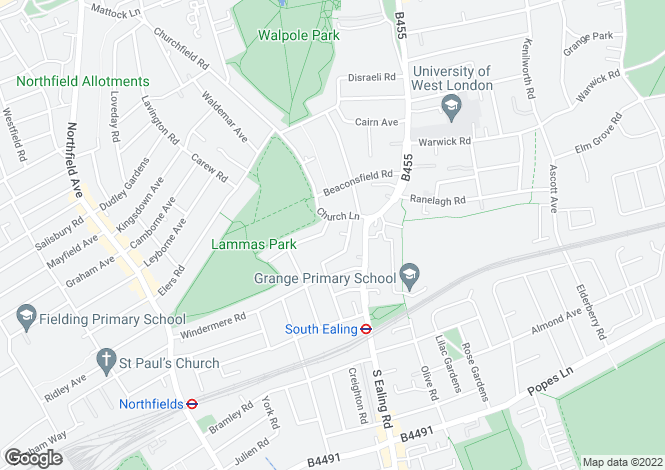 Map for Coningsby Cottages, Ealing, London, W5 4HW