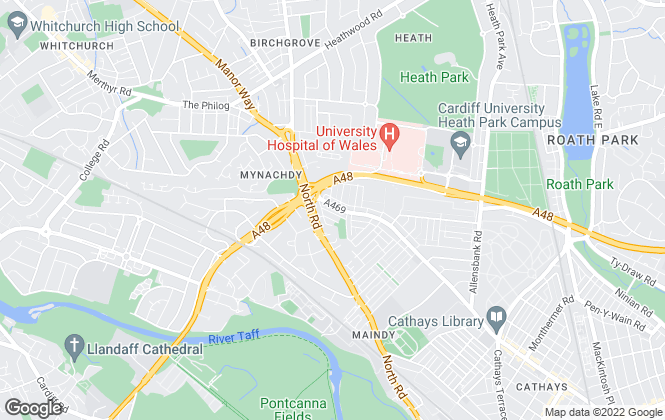 Map for M&D Properties, Cardiff-  Sales