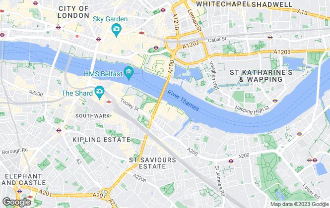 Map for Dexters, Tower Bridge