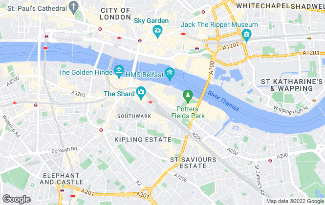 Map for Martin & Co, London Bridge - Lettings & Sales