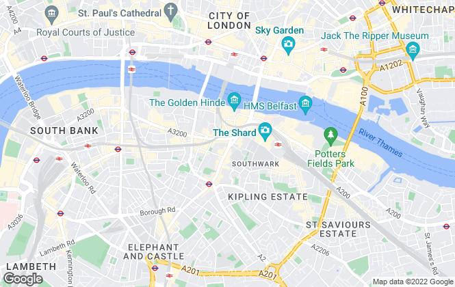 Map for Kinleigh Folkard & Hayward - Lettings, London Bridge - Lettings
