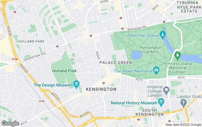 Map for Harrods Estates, Kensington