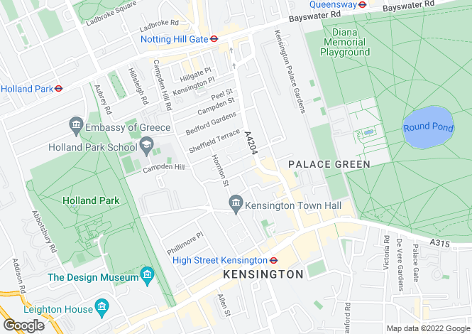 Map for Gloucester Walk, Kensington, London, W8