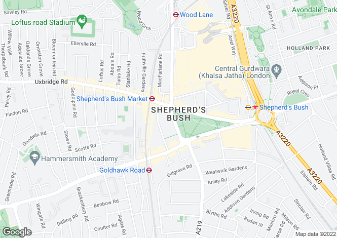 Map for Threshold & Union House, 65-69 Shepherds Bush Green, SHEPHERDS BUSH