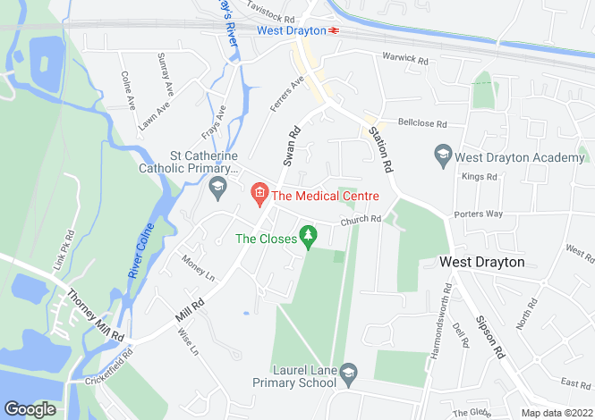 Map for Church Road, West Drayton, UB7 7PX