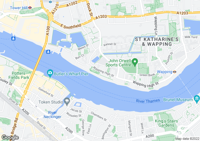 Map for Wapping High Street, Wapping