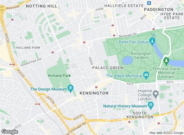 Map for Savills Lettings, Kensington