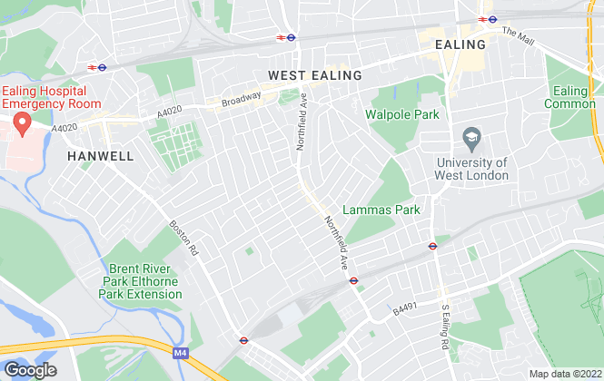 Map for Adams, Ealing