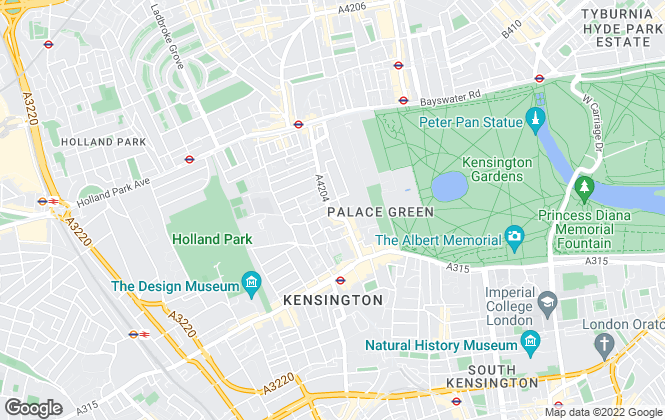 Map for Knight Frank, Kensington
