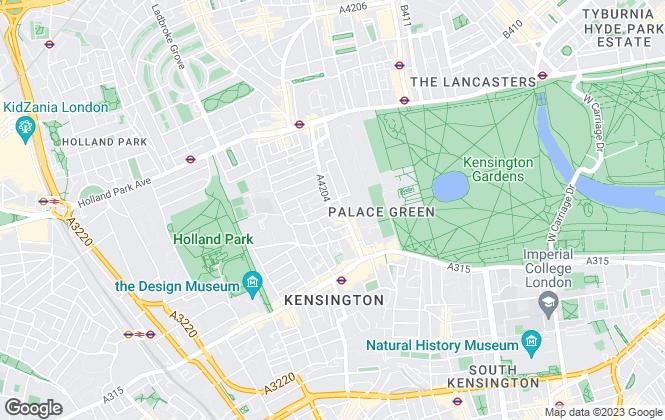Map for Dexters, Kensington