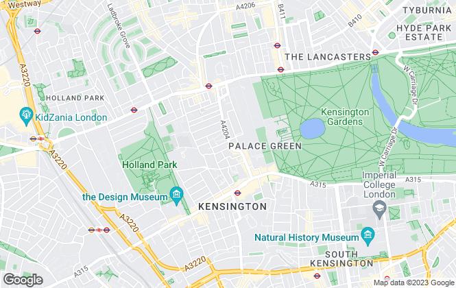 Map for Savills, Kensington