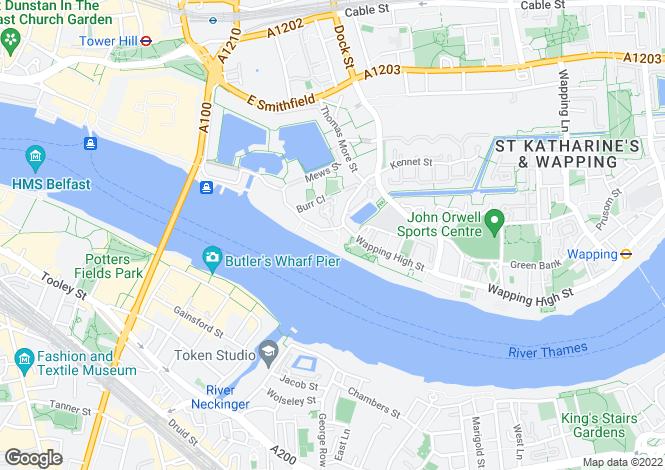 Map for Tower View, 84 St. Katharines Way, London, E1W