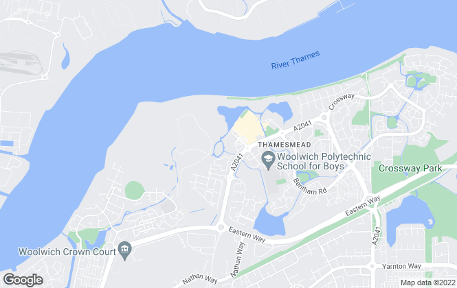 Map for Amberley Estates, Thamesmead