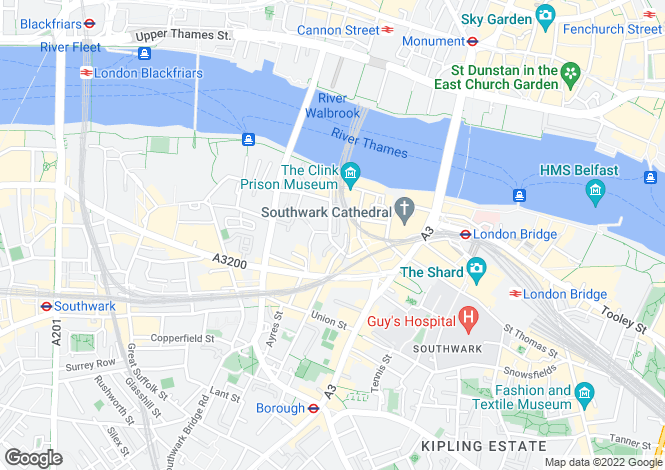 Map for Park Street, South Bank, London SE1