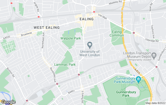 Map for Hunters, Ealing