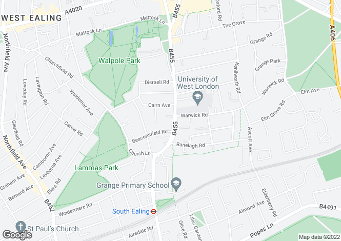 Map for St Marys Road, Ealing