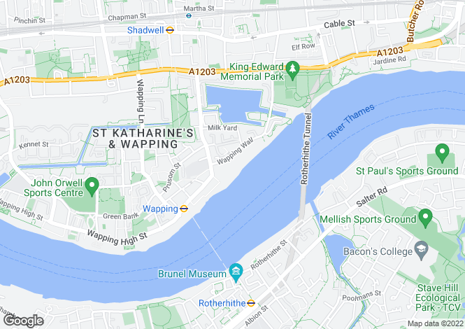 Map for Great Jubilee Wharf, 78 Wapping Wall, London, E1W