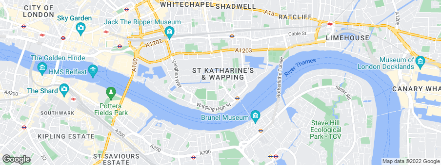 Map for 21 Wapping Lane development by Ballymore Group