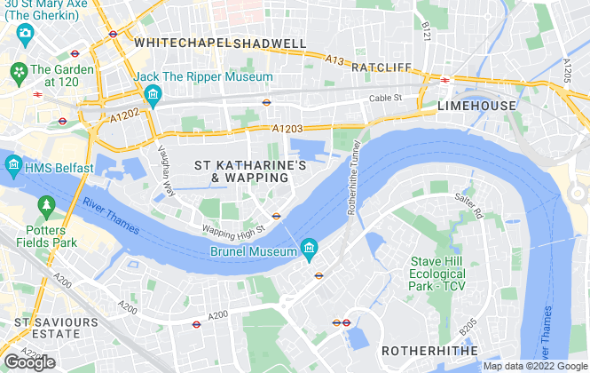 Map for Property Liaisons, Wapping