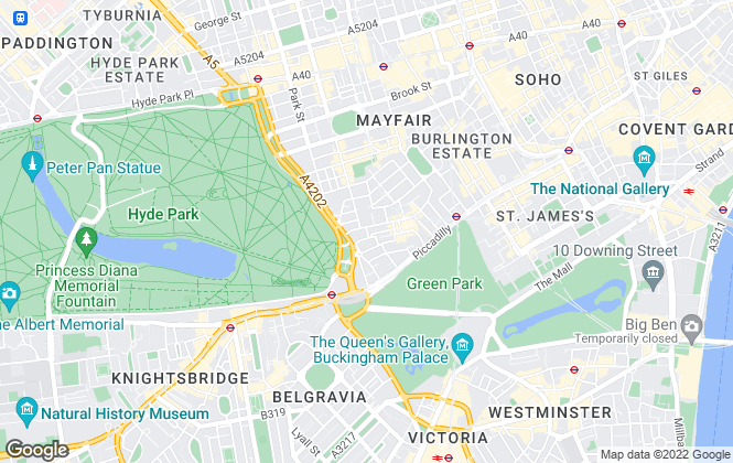 Map for Beauchamp Estates Ltd, Mayfair - Lettings