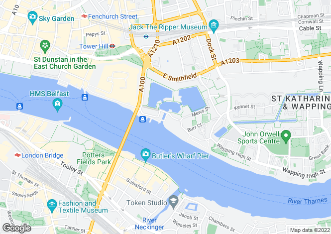 Map for St Katharine Docks, E1W