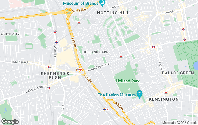 Map for Carter Jonas Lettings, Holland Park