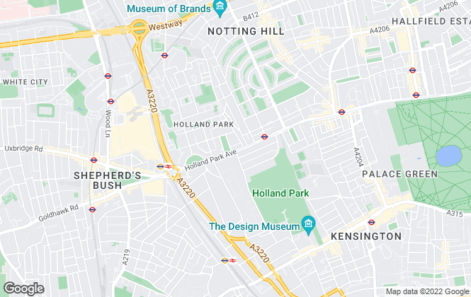 Map for Kinleigh Folkard & Hayward - Lettings, Holland Park