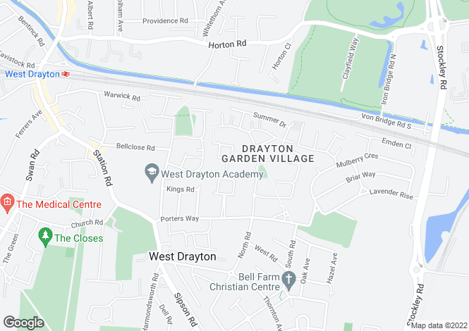 Map for Park Lodge Avenue,