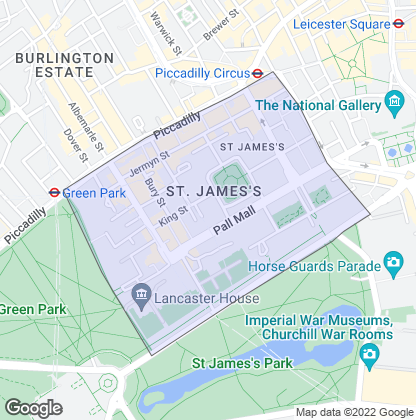Map of property in St James