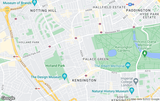 Map for Strutt & Parker, Kensington