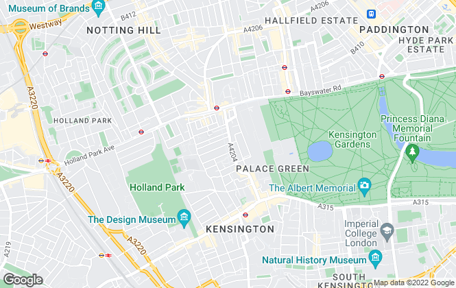 Map for Strutt & Parker - Lettings, Kensington