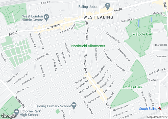 Map for Bonneville House, Ealing, W13