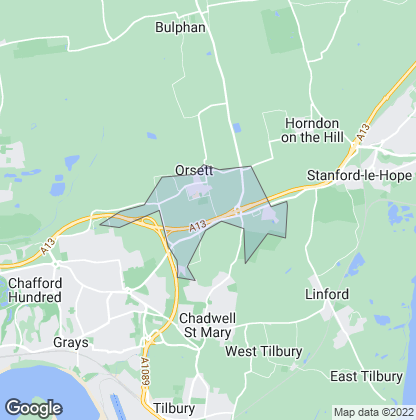 Map of property in Orsett