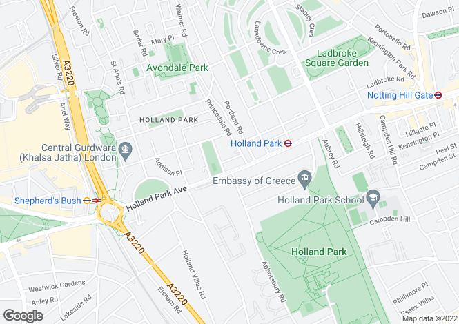 Map for Norland Place, London W11