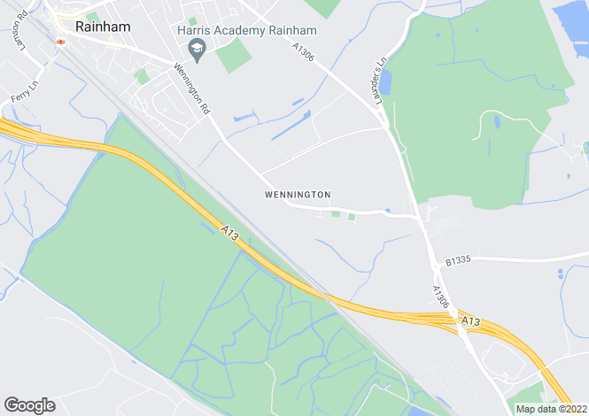 Map for Wennington Road, Wennington, RAINHAM